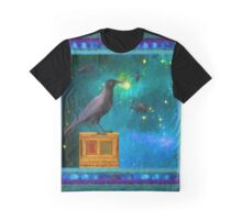 Raven looking into the eternal Night Graphic T-Shirt
