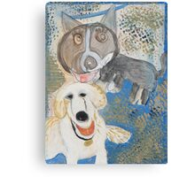 Dodger and Buffy by Dylan and Peter Canvas Print