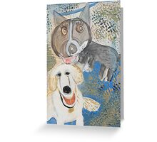 Dodger and Buffy by Dylan and Peter Greeting Card