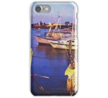 Yachts at last light iPhone Case/Skin