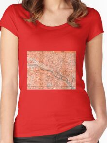 PARIS (CITY CENTER) Women's Fitted Scoop T-Shirt