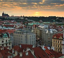 Prague Sunset by Cameron B