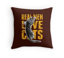 Real Men Love Cats Throw Pillow