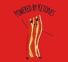Powered by Ketones and bacon Unisex T-Shirt