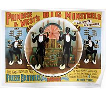 Performing Arts Posters Primrose Wests Big Minstrels all white performers 1733 Poster