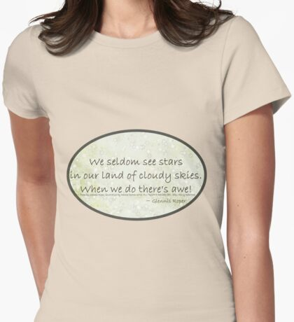 Cloudy Sky Star haiku, oval  Womens Fitted T-Shirt