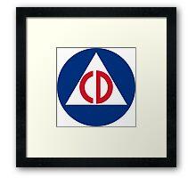 Civil Defense Framed Print