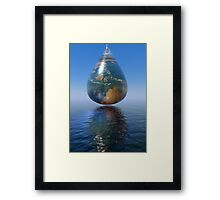 just a drop Framed Print