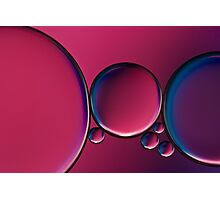 Oil and water (bubbles) Photographic Print
