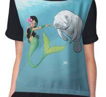 Mermaid and the Manatee Chiffon Top