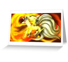 The Flaming Beauty, Ninetails Greeting Card