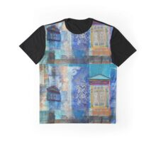 Doors and Windows in Blue Graphic T-Shirt