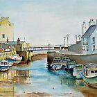 Ebb tide in Castletown Harbour, Isle of Man by Dai Wynn