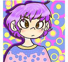 Pastel purple anime girl  Photographic Print