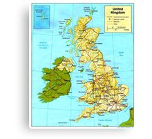 UNITED KINGDOM (MAP) Canvas Print