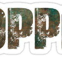 Patina Copper Sticker