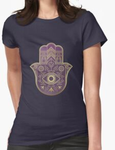 Hamsa. Hand of Fatima. Womens Fitted T-Shirt