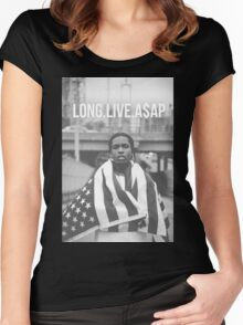 asap rocky Women's Fitted Scoop T-Shirt
