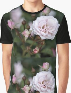 Pink Rose Blooms Graphic T-Shirt