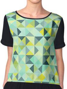 Colorful Triangles III Chiffon Top