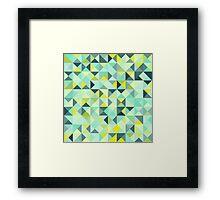 Colorful Triangles III Framed Print