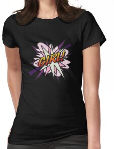 Comic Book GIRL! Womens Fitted T-Shirt
