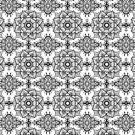 Black and white paisley mandala pattern by artonwear