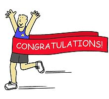 Congratulations for male runner. by KateTaylor