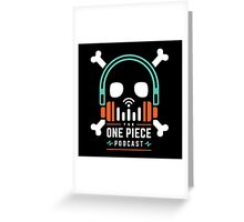 The One Piece Podcast - Maji Logo Greeting Card