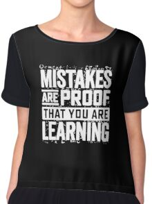 learning mistakes Chiffon Top