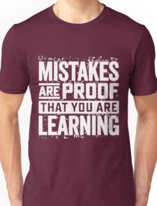 learning mistakes Unisex T-Shirt