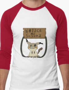 Mimikyu - Notice me senpai Men's Baseball ¾ T-Shirt