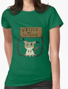 Mimikyu - Notice me senpai Womens Fitted T-Shirt