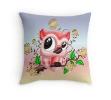 Pretty Pink Owl .. throw cushions  Throw Pillow