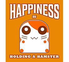 happiness is holding a hamster Photographic Print