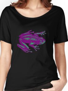 PurpleTeal Frog Women's Relaxed Fit T-Shirt