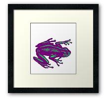PurpleTeal Frog Framed Print