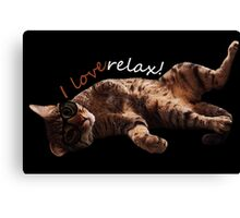 I LOVE RELAX!! Cat journey. Canvas Print