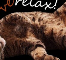 I LOVE RELAX!! Cat journey. Sticker