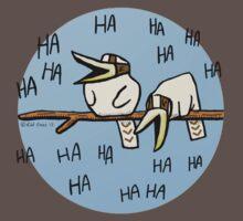 Cute Laughing Kookaburras One Piece - Short Sleeve