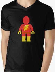 Lightning Minifig Mens V-Neck T-Shirt