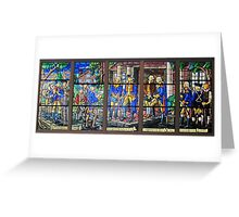 Stain Glass Window at Mount Vernon Greeting Card