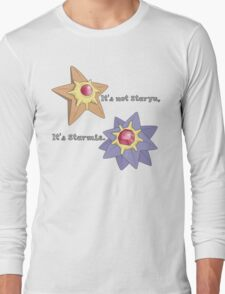 It's Not Staryu Long Sleeve T-Shirt