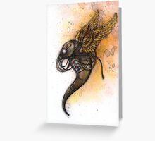 Metal Wings Greeting Card
