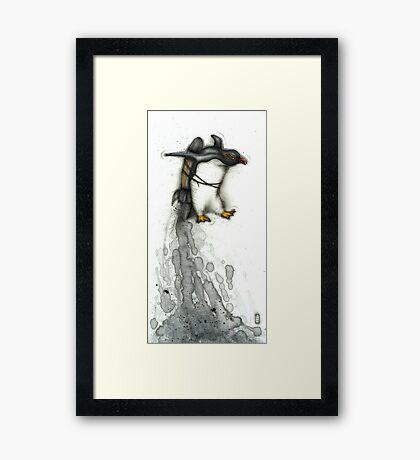 Rocket Penguin Framed Print