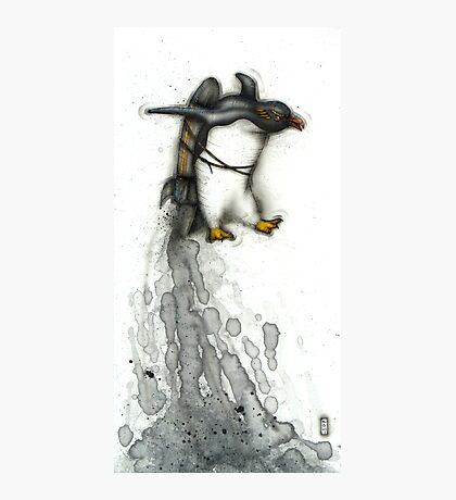 Rocket Penguin Photographic Print