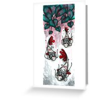 Three Samurai Fish Greeting Card