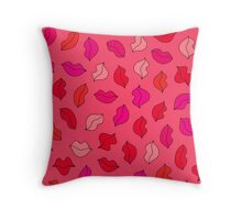 lovely lips ♡♡♡ Throw Pillow