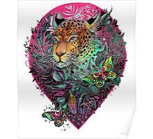 Rainbow jaguar Poster