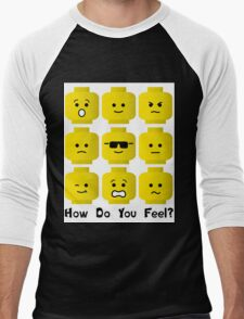 'How Do You Feel?' by Customize My Minifig  Men's Baseball ¾ T-Shirt
